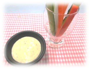 スティック野菜の味噌マヨディップ